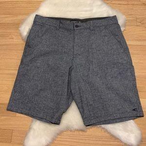 Like New O'Neill Men's Shorts Heather Grey Blue 36